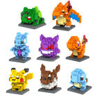 Pokemon Model Toys Pikachu Charmander Child Christmas gift+Anime Building Blocks