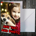 PERSONALISED CHRISTMAS CARDS WITH PHOTO PICTURE & TEXT + FREE ENVS