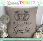 Personalised Reserved For Dad Mom Grandad Nanny Cushion Canvas Christmas Gift