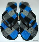 KUSTOM NEW Mens THONGS FLIP FLOPS KADILLAC ARGYLE BLACK GREY BLUE Noodle RUBBER