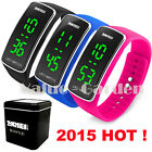 SKMEI Fashion NEW HOT Womens Mens LED Watch Black Blue Rose Color