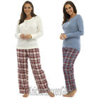 Ladies/Womens Flannel Check Pyjamas Jersey Top and Bottoms Size 8 10 12 14 16 18
