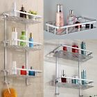Alumimum 3 Tier Bathroom Shower Storage Shelf Caddy Basket Tidy Organiser Rack