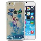 Dynamic Liquid Quicksand Butterfly Glitter Bling Clear Hard Case For Cell Phones