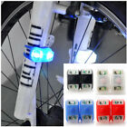 2X New Silicone Bike Bicycle Cycling Flexible Front Rear LED FlashLight Lamp BOS