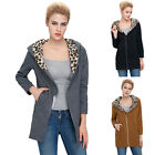S,M~XL Women Warm Long Sleeve Coats Hooded Slim Fit Jackets Sweater Outwear Tops