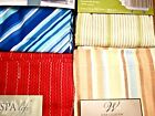 Cotton Stripe Shower Curtain: Blue Green Red Peach Winchester Home Spa NEW