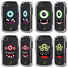 HEAD CASE DESIGNS JOLLY MONSTERS BLACK CHROME GLITTER CASE FOR BLACKBERRY PHONES
