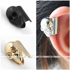 Unisex Silver Gold Gun Metal Black Punk Skull Ear Cuff Earring Fashion Gift