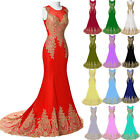 PLUS SIZE Womens Bridesmaid Formal Gown Party Evening Masquerade Long Prom Dress