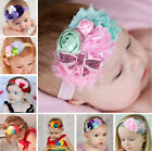 Toddler Newborn Baby Girl Rose Flower Pearl Headband Hair Band Hair Accessories
