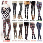 Sexy Slim Winter Warm Women Snowflake Elastic Stretch Long Leggings Skinny Pants