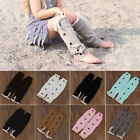 New Kids Girls Charismatic Knitted Button Lace Leg Warmers Trim Boot Cuffs Socks