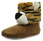 New Belle & Mimi Tiger Womens Novelty Boot Slippers ALL SIZES