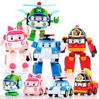 "Set Of 4 Models 5"" ROBOCAR Poli Cartoon Action Figure Toy Transformer Robot Car"