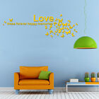 DIY 3D Mirror Butterfly Love Words Wall Sticker Home Decor Art Decal Removable