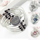 Women Elegant Wrist Watch Stainless Steel Bracelet Bangle Quartz Wristwatches