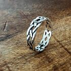 NEW! 925 Sterling Silver Celtic Knot Eternity Ring Sizes 5-12