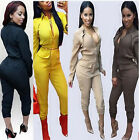 Sexy Women Long Sleeve High Waist V-Neck Jumpsuit Party Romper Trousers Clubwear