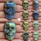 37mm Carved labradorite skull cab cabochons *each one pictured*