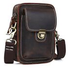 Men's New Rustic Leather Waist Bag Fanny Pack Belt Bag Pouch Small Shoulder Bag