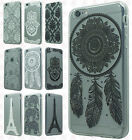 For Apple iPhone 6 / 6s Etched 3D TPU Hard Skin Case Phone Cover +Screen Guard