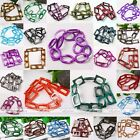 Various Mop Shell Hollowed Oval Rectangle Loose Beads Jewelry Findings DIY Gift