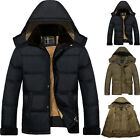 NEW WINTER HOODED JACKETS MEN'S CLASSIC VINTAGE RETRO 1970'S BOMBER TRENDY COAT