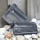 Kyпить Mens & Ladies | SMALL Soft REAL Leather Coin Purse - Key Case | TWO Zips на еВаy.соm