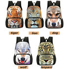 Unisex 3D Animal Print Schoolbag Backpack Fashion Shoulder Bag Storage Volumn