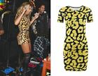 Womens Mini Dress Celebrity Beyonce Bodycon Animal Print Party Short Skirt Tops