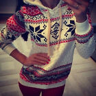 Fashion Women christmas Winter Hoodie Sweater Hooded Pullover Top Sweatshirt
