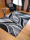 Black Light Dark Silver Grey Modern Soft Thick Rugs Small Extra Large Mats Cheap