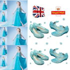 New Frozen Elsa Princess Girl Kid's Cosplay Dress Up Shoes Blue 17.5-20CM