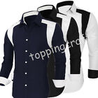 2016 HOT Men Slim Fit Long Sleeve Formal Casual Suits Dress T Shirts Tee Tops