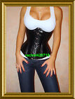 100% Leather Steel Corset Waist Training Underbust 26 Steel Bones FROM NY XS-3XL