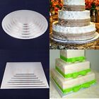 "5""6""7""8""9""10""11""  Silver Square/Round Cake Wooden Boards 5mm Thick Strong Based"