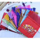 Wholesale Handmade Chinese Embroidery Flower Silk Voile Jewelry Gift Bags