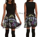 NEW Disney Maleficent Aurora Stained Glass Window Black Dress Skirt Top S-L