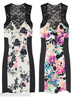Mini Dress Jessica Floral Printed Bodycon Womens Lace Hot SEXY Contrast Dresses