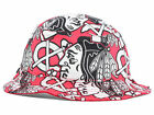 Chicago Blackhawks NHL Bravado All Over Team Logos Bucket Floppy Hat Cap HAWKS
