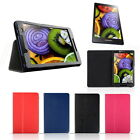 Folding Folio PU Leather Stand Case Cover For Lenovo Tab2 A8-50F Tablet UK