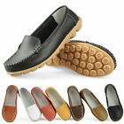 Mothers Leather Casual Comfy Shoes Ladies Flat Slip Ballet Shoes Size UK3-UK6.5