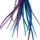 Real Feather Hair Extensions: Moonlight - DIY kit with rings