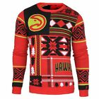 Atlanta Hawks Officially Licensed NBA Patches Ugly Sweater By Klew on eBay