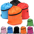 7 Colours Girls Boys Kids Drawstring Swim Sports Bag Schoolbag Backpack PE Gym