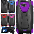 For Kyocera Hydro Air C6745 Turbo Layer HYBRID KICKSTAND Rubber Case Cover