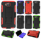 For Kyocera Hydro Air C6745 COMBO Belt Clip Holster Case Phone Cover Kickstand