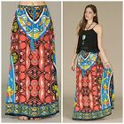 FLYING TOMATO BOHO HIPPIE CHIC VINTAGE PRINT GYPSY TASSEL ACCENT MAXI SKIRT S-L