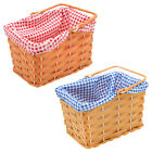 PLASTIC BASKET WITH GINGHAM BOOK CHARACTER PROP FANCY DRESS COSTUME ACCESSORY